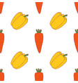 carrot and pepper seamless pattern vector image