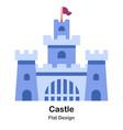 castle flat icon vector image vector image