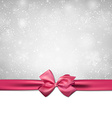 Christmas background with pink bow vector image vector image