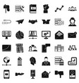 company icons set simple style vector image vector image