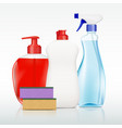 containers with detergent vector image