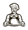 cook chef logo restaurant cafe or dish vector image vector image