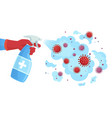 covid19 19 disinfection sanitizer spray sprayed vector image vector image