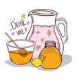 detox drink me cartoon vector image