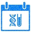 DNA Analysis Calendar Day Grainy Texture Icon vector image vector image