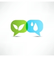 Eco Water and vegetation Symbol vector image vector image
