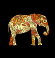 elephant ornate sketch for your design vector image vector image