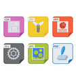 file types and formats labels icon presentation vector image vector image