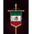 Flag of Mexico Vertical Festive Banner vector image vector image