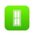 glass door icon digital green vector image