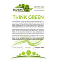 green or eco nature company poster vector image vector image