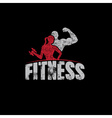 Gunge man and woman of fitness silhouette