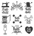 hand made set of hand made tailors emblems vector image