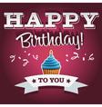 Happy Birthday Invitation Greeting Card vector image vector image