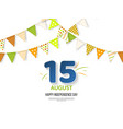 indian independence day holiday design 3d numbers vector image