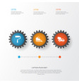 industry icons set collection of paint roller vector image vector image