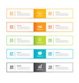 infographics tab in horizontal thin line index vector image