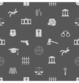 justice and law icons seamless pattern eps10 vector image