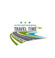 label for travel company vector image vector image