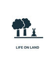 life on land icon creative element design from vector image