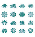 lotus flower icons vector image vector image