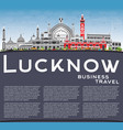 lucknow skyline with gray buildings blue sky and vector image vector image