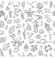 Marine life seamless pattern for your design vector image vector image