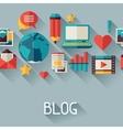 media and communication background design vector image