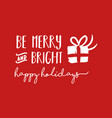 merry christmas holiday lettering vector image