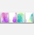 mixed multicolor watercolor background vector image vector image