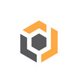 modern logo solution letter d vector image vector image