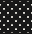 monochrome geometric seamless pattern with stars vector image vector image