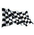 motor race waving flag vector image