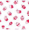 muffin red and white pattern vector image vector image