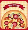 pizza design vector image vector image