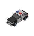 police car isometric 3d element vector image