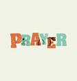 prayer concept stamped word art