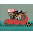 refugees vector image
