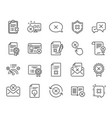 reject or cancel line icons set of decline vector image