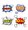 replicas in form clouds bubble speeches vector image vector image