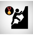rock climbing medal sport extreme graphic vector image vector image