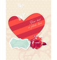 romantic card with frame and photo vector image vector image