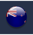 Round icon with flag of New Zealand vector image vector image