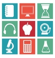 school icons supplies design vector image