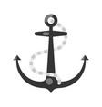 sea ship anchor with rope icon flat vector image vector image