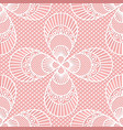 seamless decorative lace pattern on pink vector image vector image