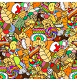 Seamless pattern Set of confectionery vector image vector image