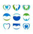 set dental care symbol design vector image