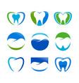 set dental care symbol design vector image vector image