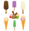 set icons various ice cream vector image